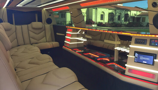 Inside Jeep limo