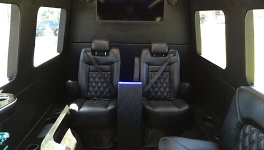 Inside-Mercedes-Sprinter-Limo-Van Easy Ways to Make Limo Rides Productive