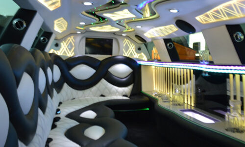 Interior White Chrysler Limo