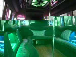 24 pass. Party Bus Rental interior