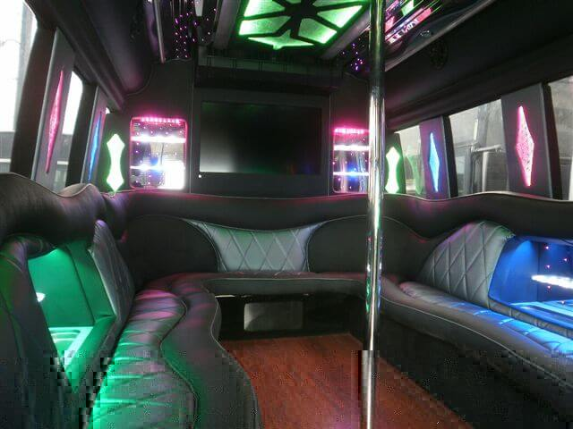 24 pass party bus interior