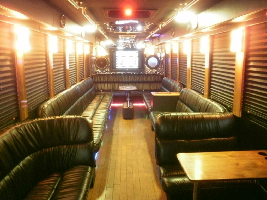 Inside big party bus