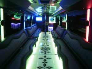 party bus 55 pass interior