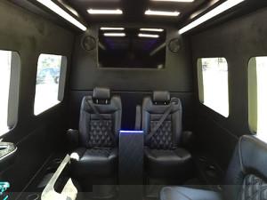 inside limo sprinter van