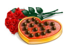Valentines Day Limousine roses candy